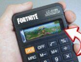 Jogando Fortnite na calculadora