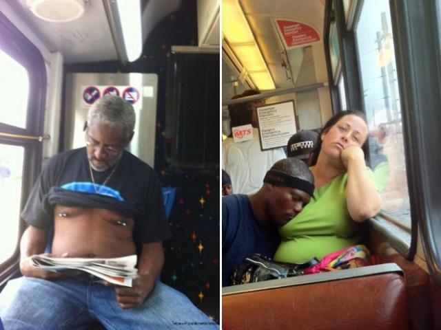 Pessoas no metrô 3