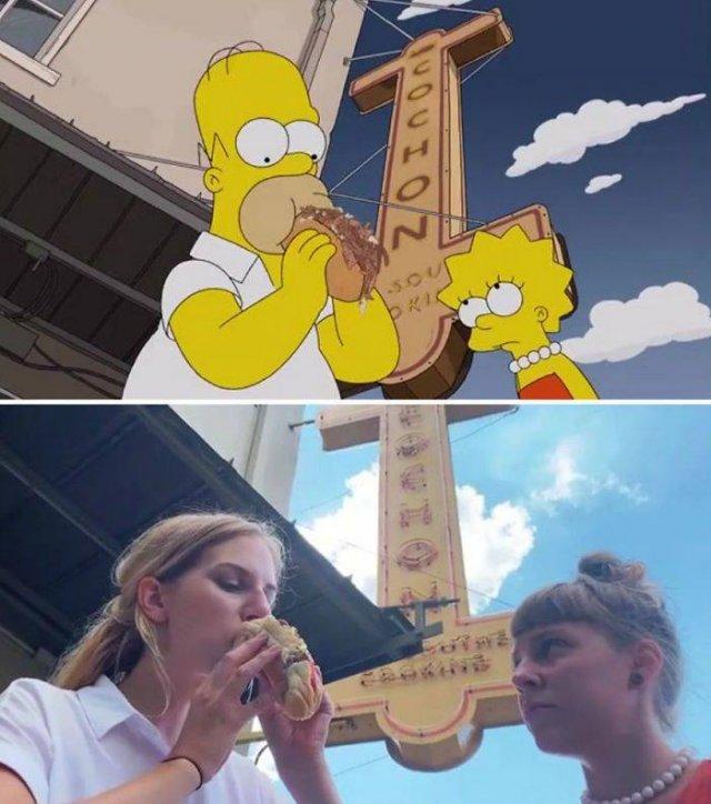 """Amigas recriam cenas de """"Os Simpsons"""" em Nova Orleans 11"""