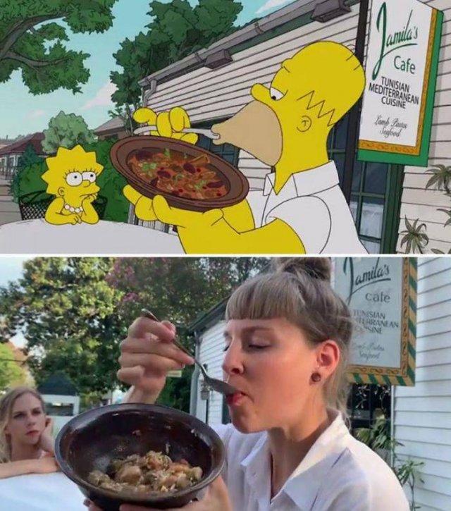 """Amigas recriam cenas de """"Os Simpsons"""" em Nova Orleans 13"""