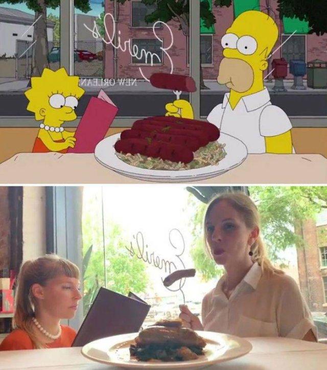 """Amigas recriam cenas de """"Os Simpsons"""" em Nova Orleans 16"""