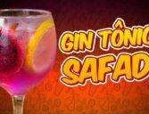 Drinks com Gin tônica e pitaya