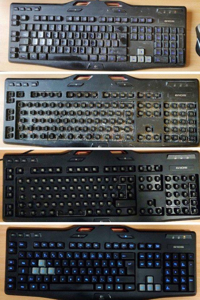 O antes e depois da limpeza